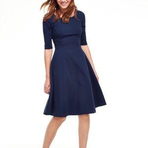Boden Alice Navy Ponte Dress